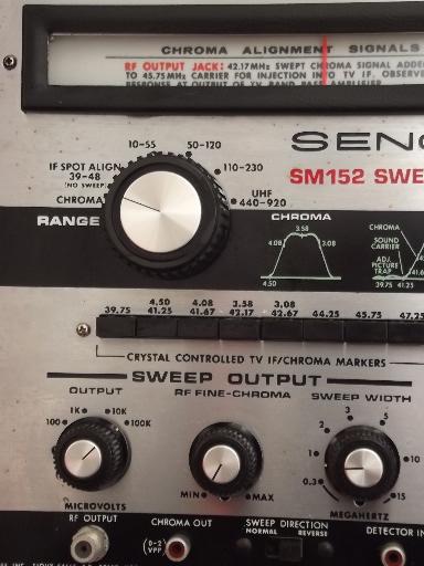 Sencore Sm152 Sweep Amp Marker Vintage Electronics Test