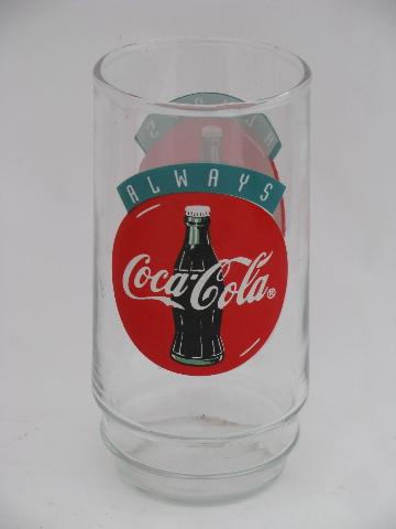 Set Of 8 Retro Coke Glasses Always Coca Cola