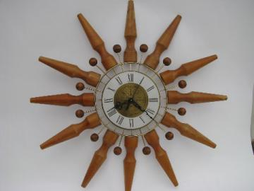 Seth Thomas retro mod vintage atomic starburst wall clock