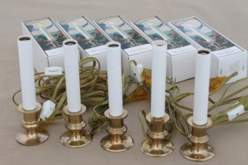 Solid brass candlestick lamps, electric candle lights candles for the windows