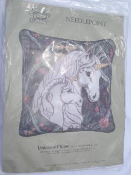 Something Special cotton floss needlepoint unicorn canvas kit, sealed