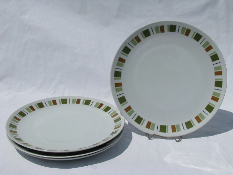 & South Pacific pattern retro danish modern vintage Mikasa dinner plates