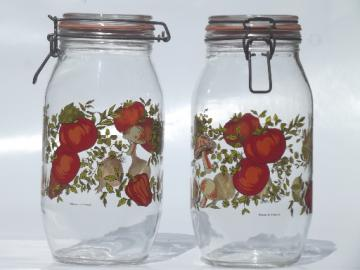 Spice O Life glass canisters, Arc - France Arcoroc french canning jars