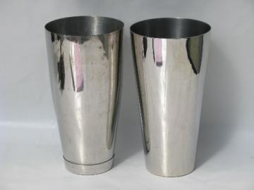 Stainless steel malted cups for vintage malt milkshake mixer