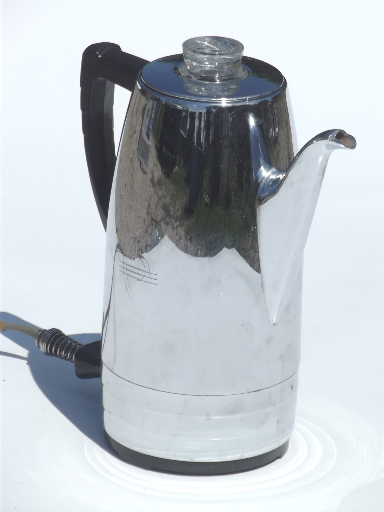 Sunbeam Percolator Coffee Maker : Sunbeam Coffeemaster coffee percolator, 1950s vintage coffee maker pot