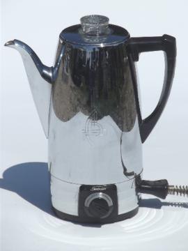 Sunbeam Coffeemaster coffee percolator, 1950s vintage coffee maker pot