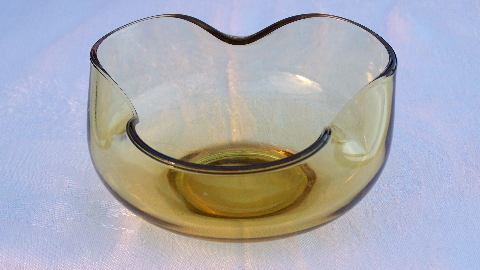 Swedish Modern gold glass bowls