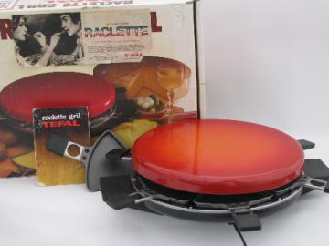 Swiss Raclette electric grill for cheese, T-Fal made in France