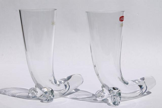 tall drinking horn beer glasses, Svend Jensen Krosno