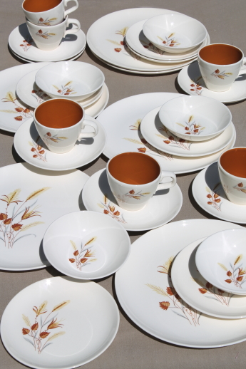 Taylor Smith Taylor Autumn Harvest vintage dinnerware set for 6 TS\u0026T china dishes & Taylor Smith Taylor Autumn Harvest vintage dinnerware set for 6 ...