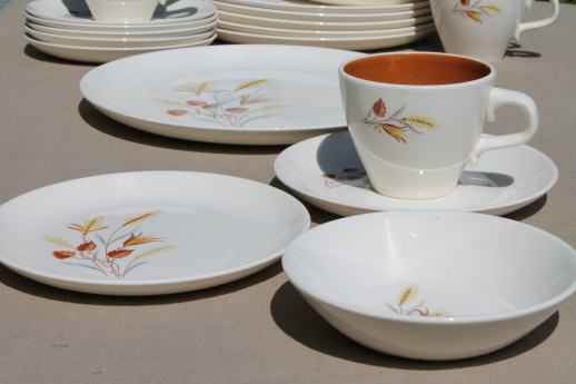 Taylor Smith Taylor Autumn Harvest vintage dinnerware set for 6 TS\u0026T china dishes & Smith Taylor Autumn Harvest vintage dinnerware set for 6 TS\u0026T ...