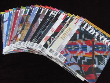 Threads magazine back issues lot sewing needlework magazines