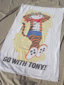 Tony the Tiger Go With Tony printed cotton beach towel advertising premium