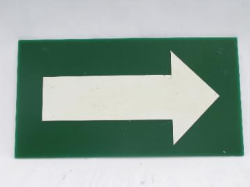 Used genuine sign for retro mod urban wall art, directional arrow