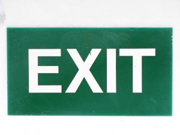Used genuine sign for retro mod urban wall art, EXIT
