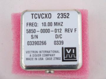 Vectran TCVCXO model 2352 crystal oscillator 10.00MHz