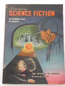 Vintage 1940s pulp sci-fi magazine, Astounding Science Fiction