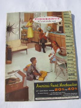 Vintage 1960 Fingerhut mail-order department store catalog, photos & prices