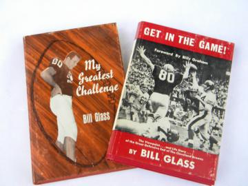 Vintage 1960s Bill Glass/Cleveland Browns football books photos etc