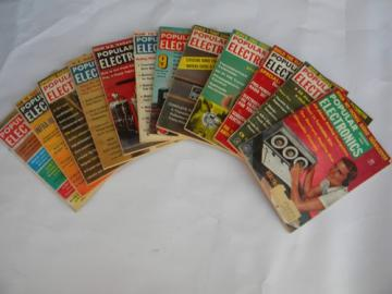 Vintage 1961 full year Popular Electronics magazines w/DIY radio projects