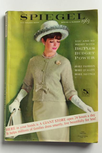 vintage 1963 Spiegel catalog, big book spring summer fashions & housewares, 60s retro!