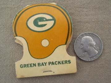 Vintage 1976 Green Bay Packers football helmet matchbook, unused matches