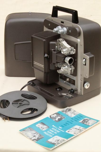 vintage bell howell super 8 autoload 346 8mm movie projector w manual. Black Bedroom Furniture Sets. Home Design Ideas