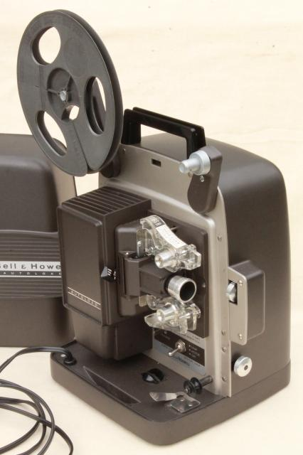 vintage Bell & Howell Super 8 Autoload 346 8mm movie projector w/ manual