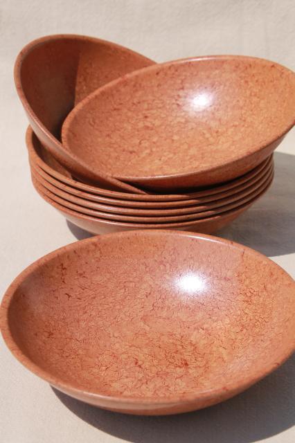 vintage boltalite melamine salad bowls retro plastic wood bowls