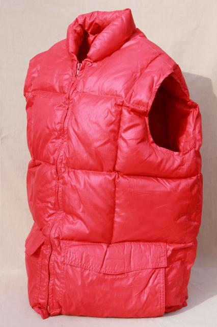 vintage Herter's down vest, packable warm quilted vest for hunters or winter sports