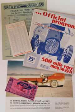 vintage Indy 500 program 1940s auto racing Indianapolis speedway