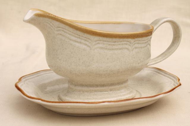 Vintage Japan Stoneware, Mikasa Garden Club Plain Tan