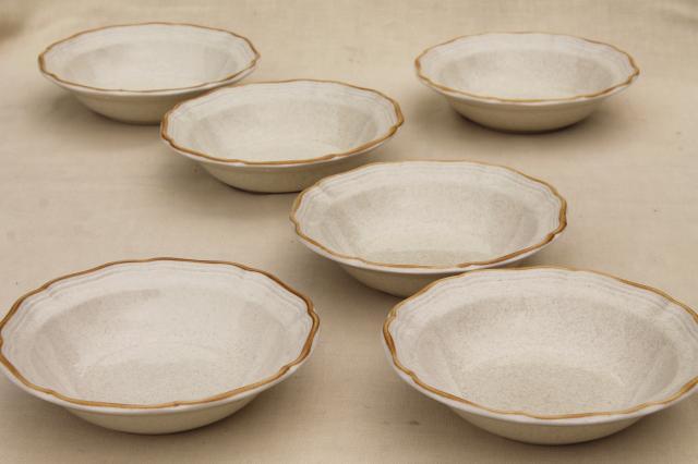 Vintage Japan Stoneware, Mikasa Garden Club Plain Tan Soup