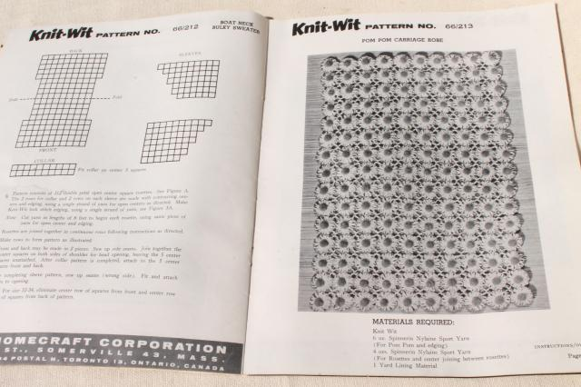 vintage Knit Wit flower maker wheel daisy loom w / metal pins, retro patterns instruction book