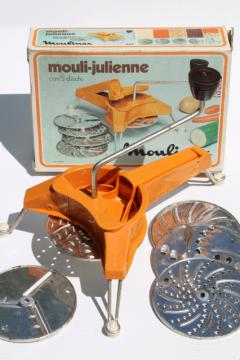 vintage Mouli Julienne 445 hand crank slicer shredder grater kitchen tool