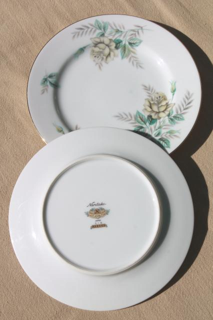 Vintage Noritake China Bread Amp Butter Or Dessert Plates