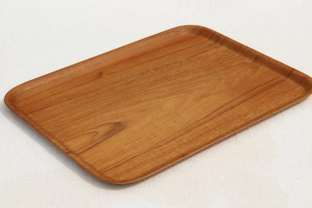 vintage nybro sweden teak meal lap trays set modern vintage mod bent wood