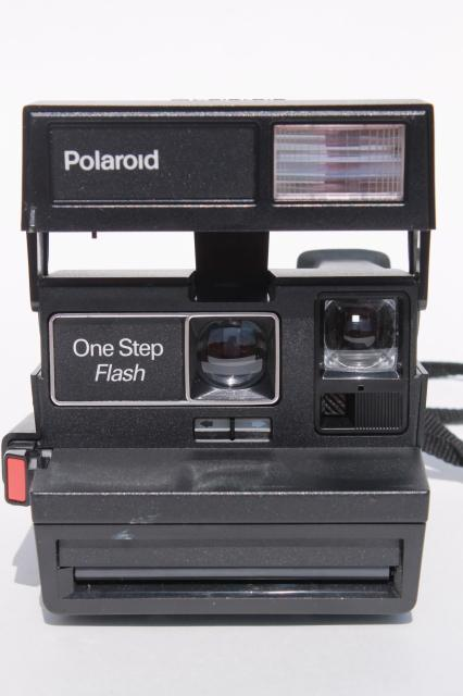 vintage One Step flash Polaroid camera, UK made model 600 retro photo prop