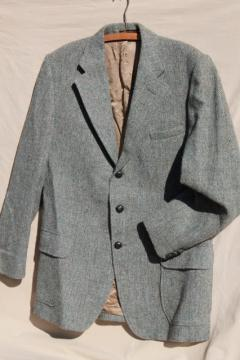 vintage Orvis Harris tweed jacket made in England, men's 44 chest
