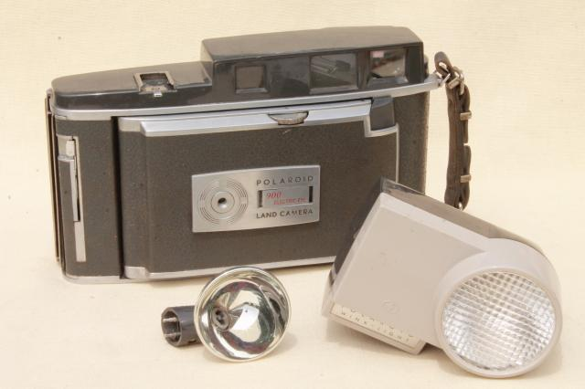 vintage Polaroid 900 electric eye land camera w/ flash attachment repair or parts