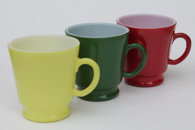 Vintage Pyrex Type Kitchen Glass Cups Set Of Hazel Atlas