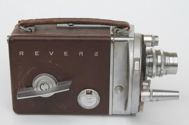 vintage Revere model 38 16mm movie camera magazine turret lenses for parts