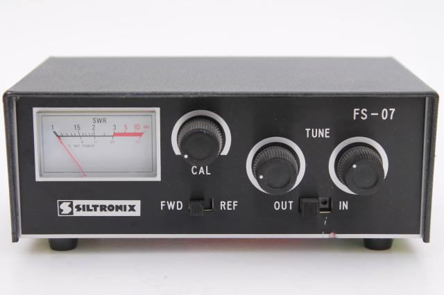 vintage SWR meter Siltronix FS-07 antenna tuner short wave transmitter or CB radio