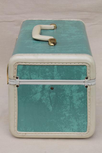 Vintage Samsonite Luggage Vanity Train Case Makeup Kit W Mirror Box Bag Suitcase