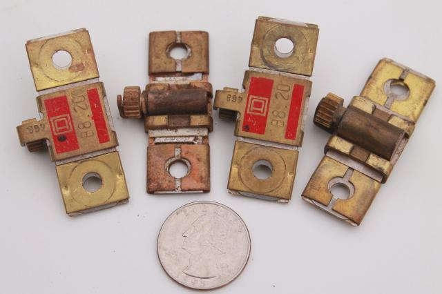 vintage Square D B8.20 overload relay thermal units  motor control parts lot of 4