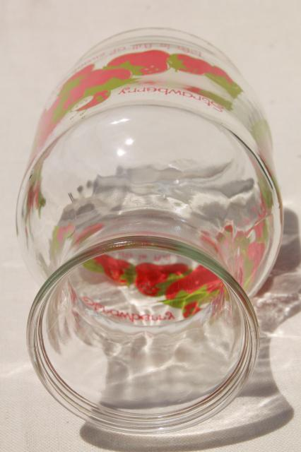 vintage Strawberry Shortcake glass carafe or refrigerator bottle
