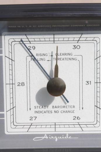Vintage Airguide Barometer 1960s Desk Weather Station