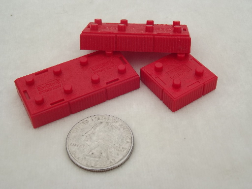 Vintage American Bricks Pre Lego Plastic Building Blocks