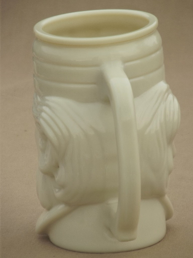 Vintage Avon Custard Milk Glass Mustache Mug Casey At The