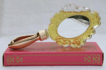 Vintage Avon Looking Glass mirror shaped bottle of Unforgettable cologne